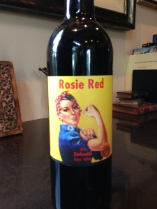 Bottle #1 of Rosie Red!